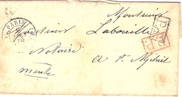 55 LETTRE PARIS A SAINT MIHIEL  LABOUILLE NOTAIRE P.P. 84 - 1877-1920: Semi-Moderne