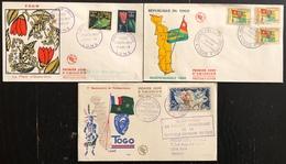Togo FDC - Premier Jour - Lot De 3 FDC - Thématique Divers - Togo (1960-...)