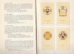 1949 WAT BETEKENT DAT SYMBOOL ? ALBUM CHRISTELIJKE SYMBOLEN 104 X PRENTJES Image Pieuse Religieuse Holy Card Santini - Antiguos