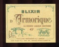 Etiquette D 'Elixir  -  D'Armorique  -  Warenghem Fils à  Lannion  (22) - Etiquettes