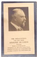 Devotie Doodsprentje Overlijden - Nijveraar Adolphe De Coene - Kortrijk 1879 - 1933 - Décès