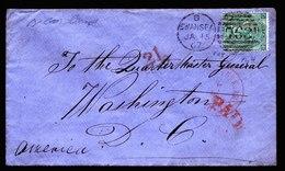 A6195) UK Great Britain Cover Swansea 01/15/67 With Mi.27 To Washington / US - 1840-1901 (Viktoria)