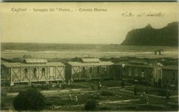 CAGLIARI - SPIAGGIA DEL '' POETTO '' - EDIZ. CALZIA - 1926  (3240) - Cagliari