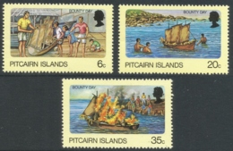 """Pitcairn Islands. 1978 """"Bounty"""" Day. MH Complete Set. SG 185-187 - Stamps"""