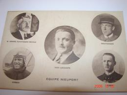 C.P.A.- Equipe Nieuport - Amand , Kirsch , Lecointe , Moutonnier & Robin - 1920 - SUP (BI 66) - Aviadores