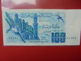 ALGERIE 100 DINARS 1981 PEU CIRCULER - Algerien