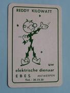 REDDY KILOWATT Uw Elektrische Dienaar EBES ANTWERPEN / JOKER ( Details - Zie Foto's Voor En Achter ) !! - Speelkaarten