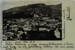 Bosnia, Mostar, General View,Old Postcard 1903 - Bosnië En Herzegovina