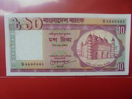BANGLADESH 10 TAKA 1996 PEU CIRCULER - Bangladesh