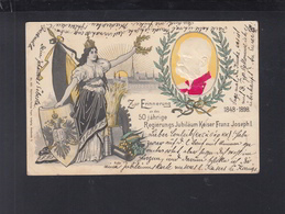 KuK Prägekarte 50 Järige Regierungs Jubiläum Kaiser Franz Josef I 1898 - Koninklijke Families