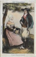 CPA - HOMME ET FEMME DE PLOUDANIEL - ANCIENS COSTUMES DE BRETAGNE - France