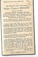 DI/M/ °  DENDERBELLE 1851 + WIEZE 1939  MARIA RINGOET  Met Foto - Religion & Esotérisme
