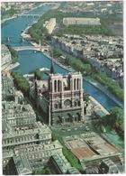 Paris - Vue Aérienne La Facade De Notre-Dame Et La Seine - (1973) - Notre-Dame De Paris