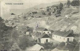 AK / Levelezö-Lap Ungarn Üdvözlet Aninoszarol Dorf Mit Kirche 1911/25 #17 - Hungría