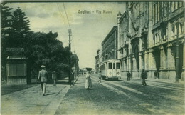 CAGLIARI - VIA ROMA - TRAM - EDIZ. G. DESSI - 1920s (3243) - Cagliari