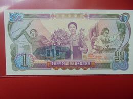 """COREE (NORD) 1 WON 1978 """"CONTREMARQUE """"1"""" PEU CIRCULER/NEUF - Korea, North"""
