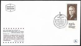 1975 - ISRAEL - FDC + Michel 636 [Harry S .Truman] + JERUSALEM - FDC