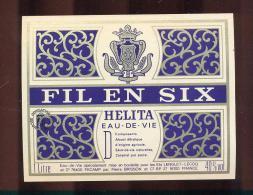 Etiquette  D'eau De Vie  - Helita  -  Fil En Six  -  Pierre Brisson   France - Etiquettes