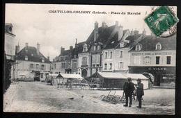 45, Chatillon Coligny, Place Du Marche - Chatillon Coligny