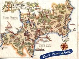 CATANZARO - CARTINA FIGURATIVA DELLE PROVINCIA - Catanzaro