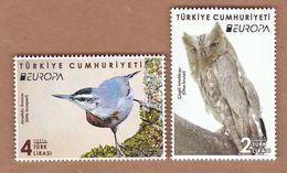 AC - TURKEY STAMP - EUROPA ( CEPT ) 2019 NATIONAL BIRDS KRUEPER'S NUTHATCH - PALLID SCOPS OWL MNH 09 MAY 2019 - 1921-... Republik