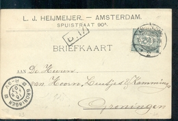 Amsterdam Spuistraat - L J Heijmeijer Jute Garens Li - 1907 - Amsterdam