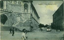 CAGLIARI - VIALE REGINA ELENA - TRAM - EDIZ. G. DESSI - 1920s (3247) - Cagliari