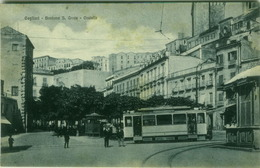 CAGLIARI - BASTIONE S. CROCE - TRAM - EDIZ. G. DESSI - 1920s (3249) - Cagliari