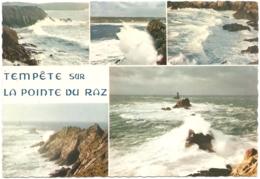 """29 - Tempête Sur La Pointe Du Raz - Multivues (5) - éd. D'Art Jos """"La Bretagne En Couleurs"""" N° MX 694 - La Pointe Du Raz"""