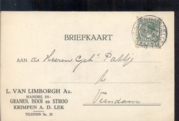 Krimpen Aan De Lek - L Van Limbofgh Granen Hooi Stro - 1931 - Pays-Bas