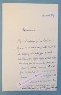 L.A.S 1959 Fernand GREGH à Mme Bosramiez-Jahan Poète - Académicien - Ami De Proust - Poésie Moderne - Lettre Autographe - Autographes