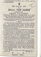 DI/M/ °  WIEZE 1846 + 1918  MONICA VAN SANDE     Met Foto - Religion & Esotérisme