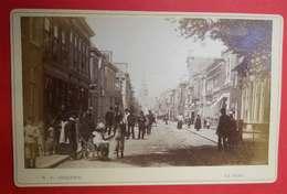 1876-1890 Photo Format Cabinet La Haye La Haije Nederland Pays-Bas Dos Scanné éditeur WF Vinkenbos - Anciennes (Av. 1900)
