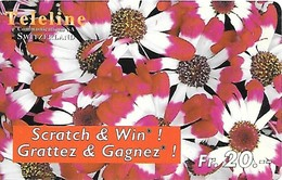 Prepaid: Teleline, Scratch & Win - Flower - Schweiz