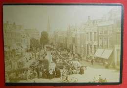 1876-1890 Photo Format Cabinet Leeuwarden TB Animée Nederland Pays-Bas Dos Scanné Sans éditeur - Anciennes (Av. 1900)