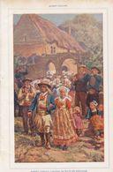 Cortege De Noces En Bretagne /  Imprimé , Pris D`un Magazine / 1909 - Livres, BD, Revues