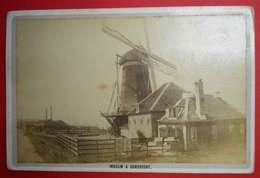 1876-1890 Photo Format Cabinet Moulin à Dordrecht Nederland Pays-Bas Dos Scanné Sans éditeur - Photos