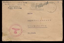 P0962 - DR Feldpost Briefumschlag Arbeitsstab Stalingrad , Tunis: Gebraucht Mit Werbestempel Kartoffelkäfer Kassel - Wi - Briefe U. Dokumente