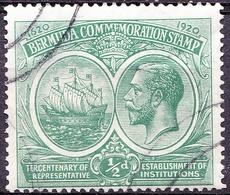BERMUDA 1920 KGV 1/2d Green SG60 FU - Bermuda