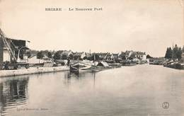 45 Briare Le Nouveau Port Bateau Peniche Cpa Edit Bodineau - Briare
