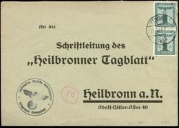 P0948 - DR NSDAP Dienstpost Briefumschlag: Gebraucht Ortsgruppe Meimsheim - Heilbronn 1944, Bedarfserhaltung. - Briefe U. Dokumente