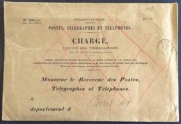 V318 Enveloppe 30x21 «N°636 Petit»Postes, Télégraphes Et Téléphones Chargé Oblitérée Paris RP Caisse 8/7/1942 - Documents Of Postal Services