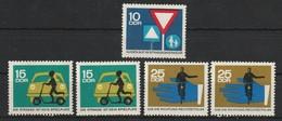 DDR 1966 Michel Nr.n 1169 **, 1170 ** 2x, 1171 ** 2x, Alle Postfrisch - Ungebraucht
