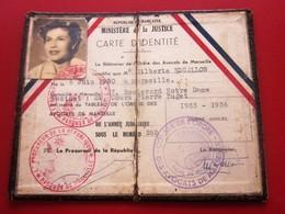CONSEIL DE L'ORDRE DES AVOCATS BARREAU DE MARSEILLE CARTE IDENTITÉ(Périmé)MINISTÈRE JUSTICE Cachet Parquet Procureur Rep - Documents Historiques