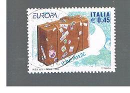 ITALIA REPUBBLICA  -  2004  EUROPA                       - USATO ° - 6. 1946-.. Repubblica