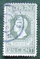 2½ Ct Jubileumzegel Perf 11½ X 11 NVPH 90A 90 A (Mi 81A 81 A) 1913 SLUIS Gestempeld / USED NEDERLAND / NIEDERLANDE - Period 1891-1948 (Wilhelmina)