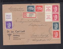 Dt. Reich ZD Auf R-Brief Amberg Nach Berlin - Storia Postale
