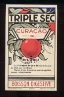 Etiquette De  Curaçao Triple Sec  Boisson Digestive  -  Ets R Goubely  Mauriac  (15) - Etiquettes