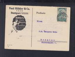 Dt. Reich PK 1924 Stuttgart Nach Breslau - Deutschland