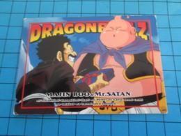 CARTE A JOUER OU A COLLECTIONNER : 1995 DRAGON BALL Z MEMORIAL PHOTO 1 EN JAPONAIS MAJIN BOO + Mr SATAN L'habite - Dragonball Z